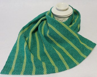 Large Handwoven Cotton Towel for Kitchen or Bath, Kitchen Towel, Handtowel, Handwoven Towel, Woven Towel  - Maui Towel (#17-03 Seafoam)