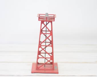 Vintage Train Beacon With Metal Lattice Work Tower Electric #14