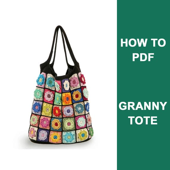 Diy Crochet Bag Pdf Step By Step Crochet Pattern Crochet Bag Pdf