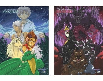 Kin Seeker Poster Collection, x2 A2 size wall posters (allies and enemies)