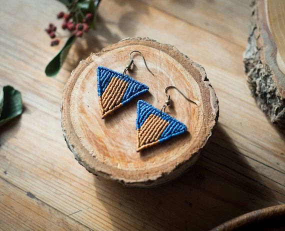 Ethnic macrame earrings