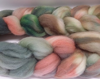 Hand Dyed Wool Roving -- Spinning, Felting, Weaving