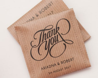 Thank you Tea bags - Custom text and design available - Wedding favour tea bag - Guest Favor Thank you