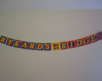 Store name banner personalized