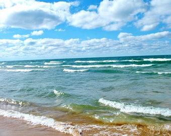 Nature Photography: Lake Michigan Beach CANVAS