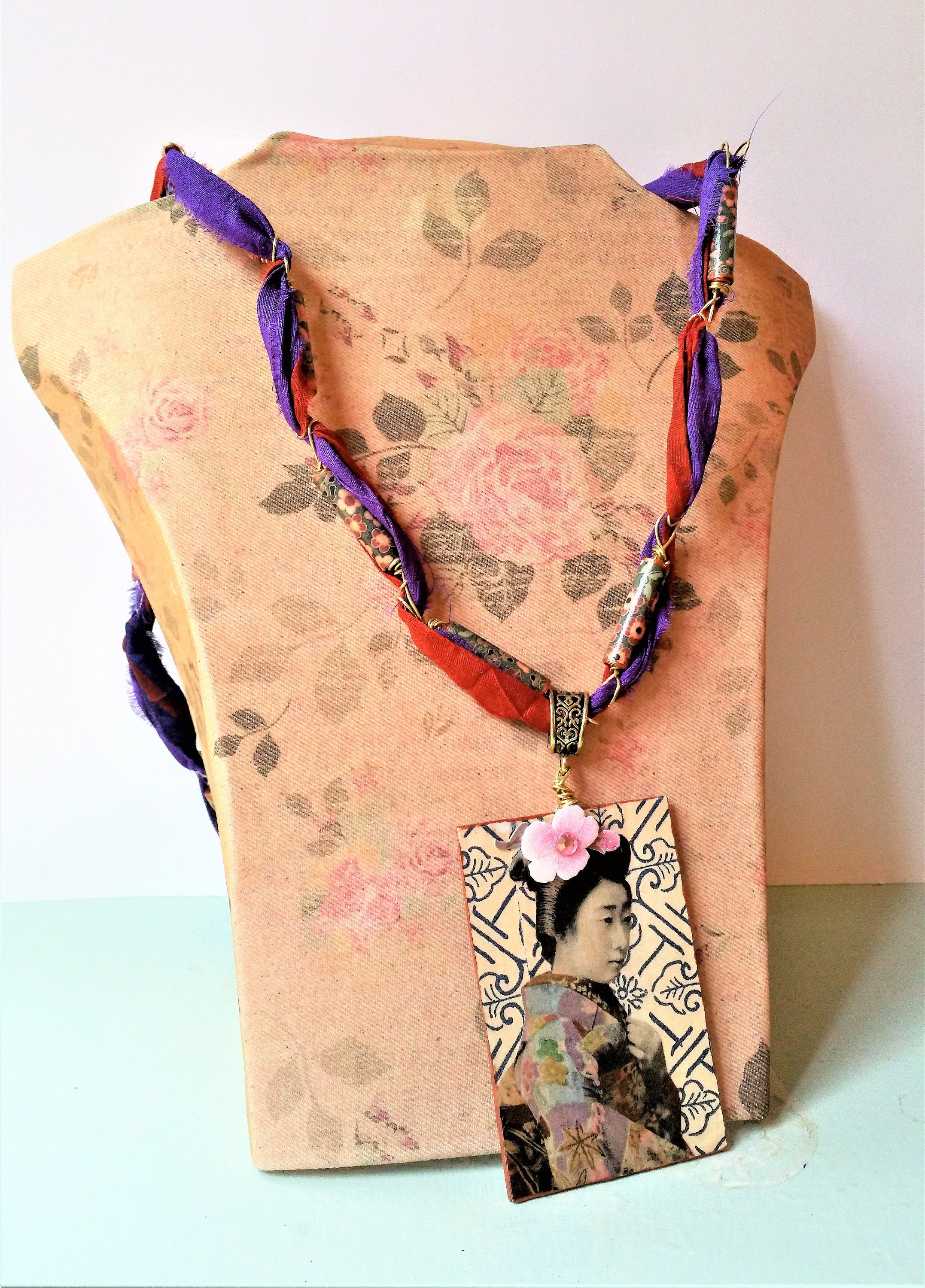 charm dangle necklace tutorial video silk still blog ribbon