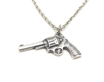 Gun Necklace, Little Pistol Necklace Revolver Necklace Gun Necklace