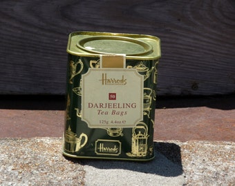 Harrods Darjeeling Tea Bag Tin 125g *Empty*