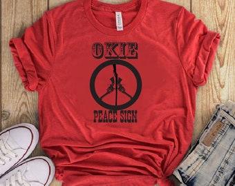 Okie Peace Sign Tee