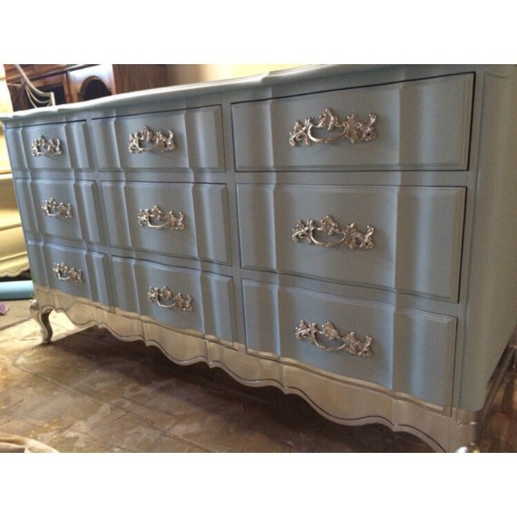 French Provincial Dresser Nursery Changing Table Buffet Tv - Buffet tv