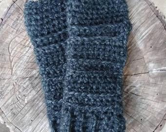 Men's Fingerless Gloves, Men's Fingerless Mittens