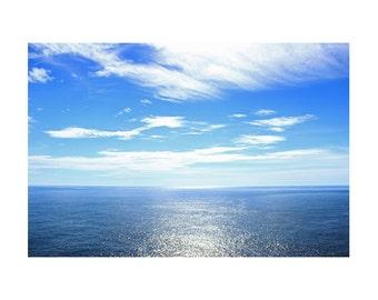Minimalist Photography, Minimalist Art, Large Ocean Art, Large Seascape Art, Ocean Photography, Blue Art, Seascape Photography, Water Art