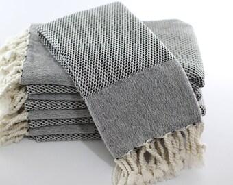 Double Sided | Turkish Hand Towel | Peshkir | Tea Towel | Kitchen Towel | Dish Towel | Kitchen Decor | Mon Castle