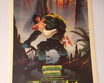 Swamp Thing Vintage Movie Poster Print Reproduction