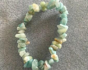 Amazonite Stonechip Bracelet, calming and balancing