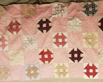 Two vintage quilt remnants/small quilts