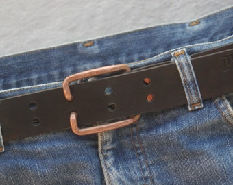 Leather belt COPPER CANDY
