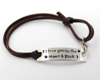 I Love You to the Moon and Back! Bracelet - PERFECT SIMPLE GIFT