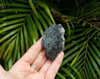 Black Kyanite Fan Mineral Specimen 2.55x1.58x.65''