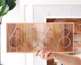 House Number Sign | Custom House Number Plaque | Metal House Numbers | Ombre House Number Sign