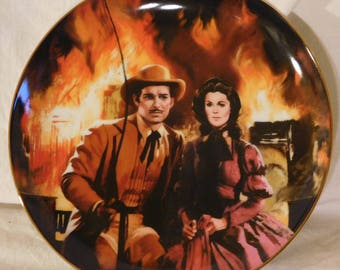 The Burning Of Atlanta Gone With The Wind Golden Anniversary Series W L George Howard Rogers Collectors Plate GWTW Collectible