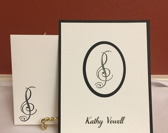 Music Themed Note Cards or Thank You Cards (10)