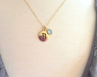 Birthstone Jewelry, Gold Necklace, Personalized Gift Bridesmaid Gift Bridesmaid Necklace Jewelry Personalized Necklace, Mothers Day Gift