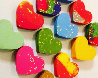 Glitter Crayons Sparkle Hearts