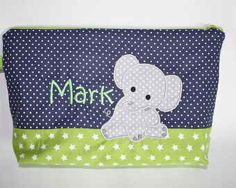 Diaper bag elephant with wish name