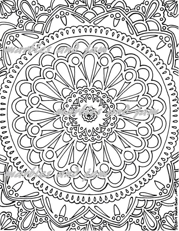 mandala printable coloring sheet