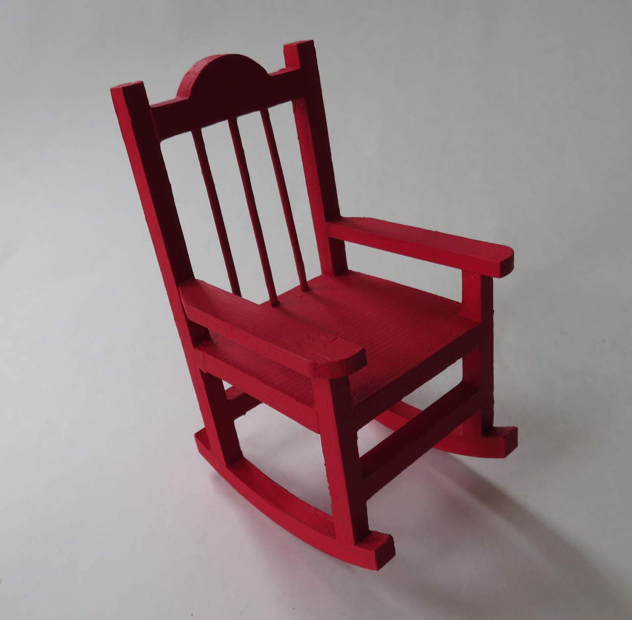 Miniature Red Rocking Chair ~ Red mini rocking chair painted