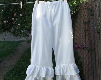 Bohemian Pantaloons 2X-5X Double Ruffle Bloomers Womens Plus Size Custom Made
