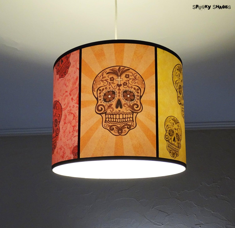 Skull lamp rainbow sugar skulls pendant lamp shade lampshade description fun and colorfoul sugar skulls pendant lamp shade aloadofball Gallery