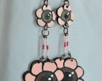 Eyeflower chandelier earrings
