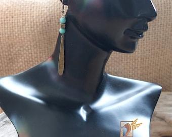 """Turquoise Chaac"" earrings"