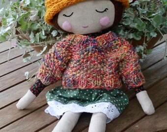 Autumn child, 16'', sweater and beanie