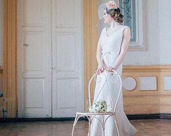 Art deco wedding dress   Felted wedding dress   bridal dress   unique wedding dress   original bridal dress    gatsby wedding