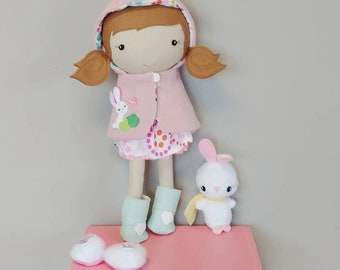 Spring Bunny Accessory Suitcase - Doll Boutique, Outfit, Toy