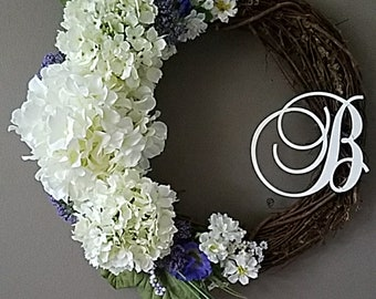 White Hydranga Wreath