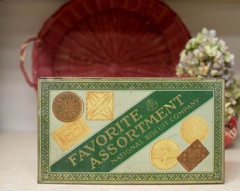 Favorite Assortment National Biscuit Company Advertising Tin