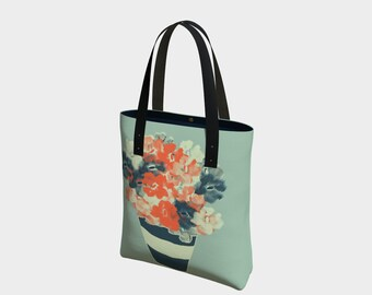 Flower Bouquet Tote Bag, Market Bag, Beach Bag, Book Bag, Everyday Tote Bag, Urban Bag, Basic Bag