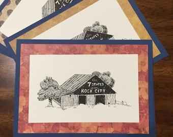 See Rock City - Handmade Greeting Card Note Card