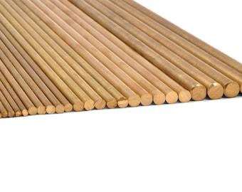 "5 Packs of Brass Rods -- Various Diameters, 12"" Long"