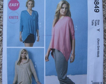 UNCUT Misses Tops, Tunic, Shorts and Pants - Size XS to Medium - McCalls Pattern M6849