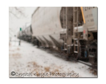 Spring Snow Photography Print, Winter Wonderland, Made in Canada, 8x10 or 11x14, Train Conductor's Home Decor, Rustic Man Cave, Fresh Look