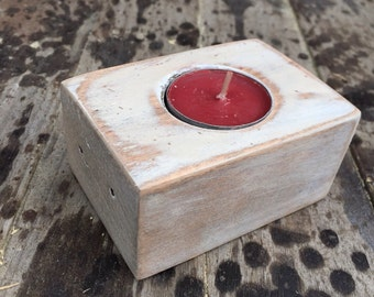 Recycled  pallet wood mini tealight holder
