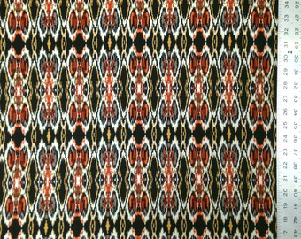 Ikat Tribal Repeat Print on Stretch Brushed Knit Jersey Polyester Spandex Fabric - 58 to 60 Inches Wide - By the Yard or Bulk
