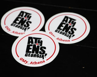Pack of 3 My Athens stickers
