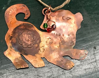 Year of the Dog, 2018 Chinese New Year Zodiac, Copper Dog Ornament