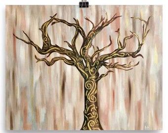 Poster of Whimsical Tree of Life Art Print